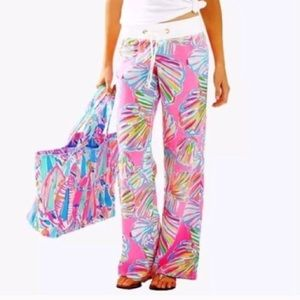 •Lily Pulitzer• The Beach Pant 100% Linen